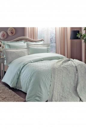 طقم غطاء لحاف ساتان 4 قطع / سرير مزدوج