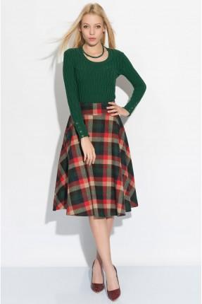 تنورة كاروهات - اخضر