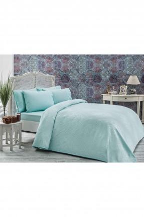 طقم بطانية سرير مزدوج  - تركواز