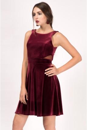 فستان رسمي مخمل - خمري