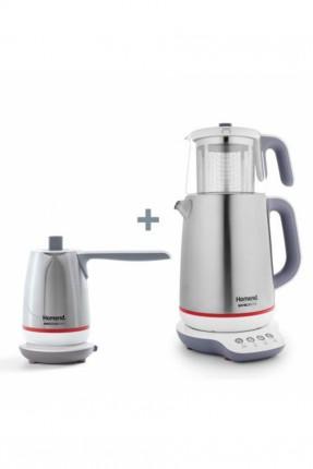 غلاية شاي كهربائية + غلاية قهوة كهربائية