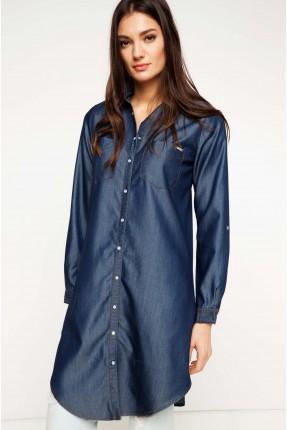 قميص نسائي - ازرق