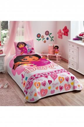 طقم بطانية سرير اطفال بناتي - دورا
