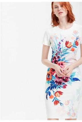 فستان سبور قصير مع نقش