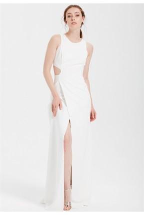 فستان رسمي طويل لف