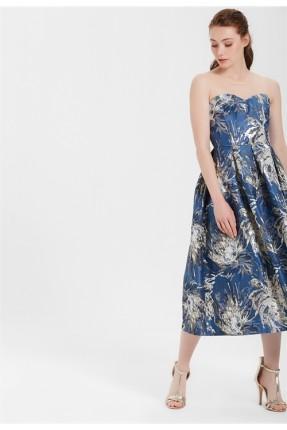 فستان رسمي طويل معرق