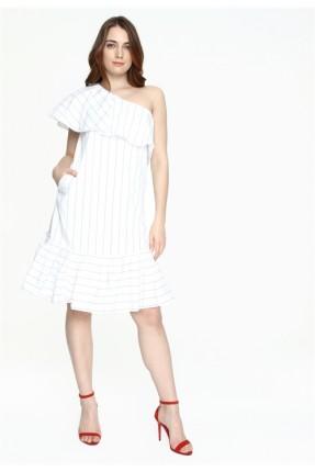 فستان سبور بدون كتف