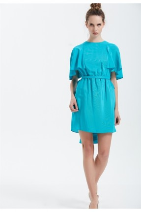 فستان سبور كشكش - ازرق