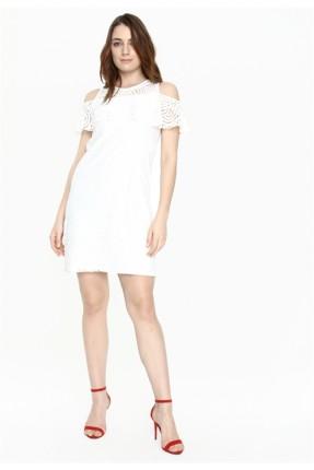 فستان سبور دانتيل ابيض