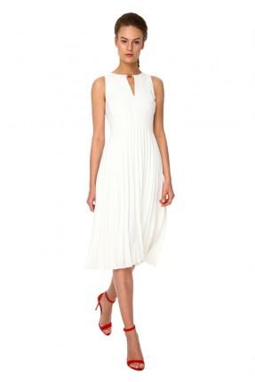 فستان رسمي بليسيه - ابيض