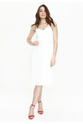 فستان سبور بليسيه - ابيض