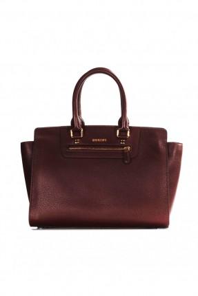 حقيبة نسائية يد جلد - خمري