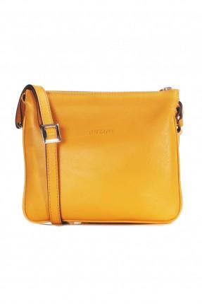 حقيبة نسائية يد جلد - اصفر
