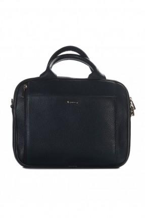 حقيبة يد رجالية جلد - كحلي