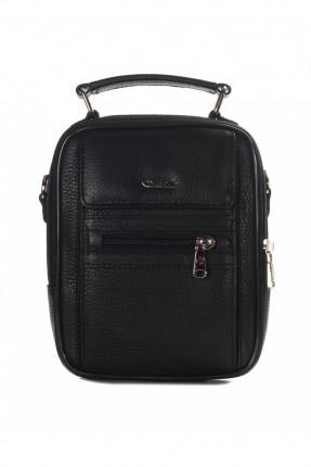 حقيبة يد رجالية جلد - اسود