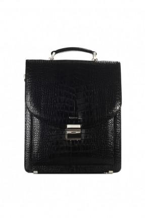 حقيبة اوراق جلد - اسود