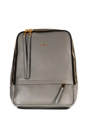حقيبة ظهر نسائية - رمادية