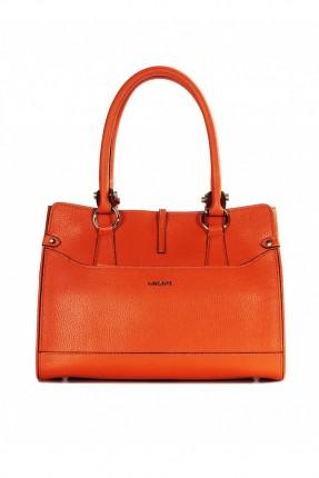 حقيبة يد نسائية جلد - برتقالي