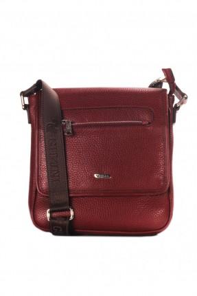 حقيبة يد جلد - خمري