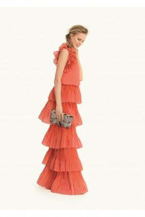 فستان رسمي طويل موديل طبقات