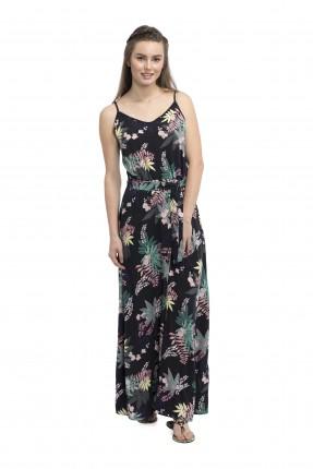 فستان منقوش طويل
