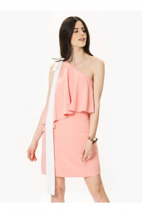 فستان رسمي قصير كتف واحد