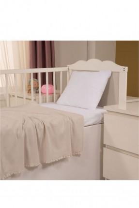 بطانية سرير بيبي - بيج
