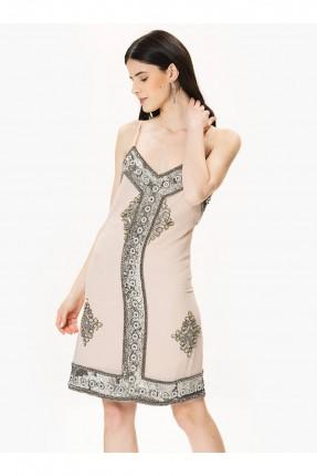 فستان رسمي قصير مشكوك