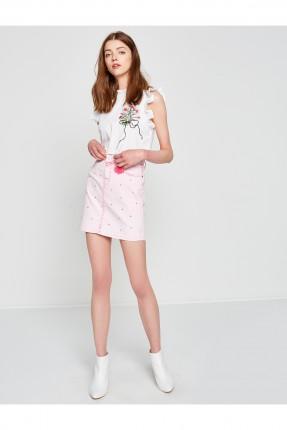 تنورة قصيرة - زهر