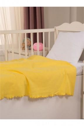 بطانية سرير بيبي - اصفر