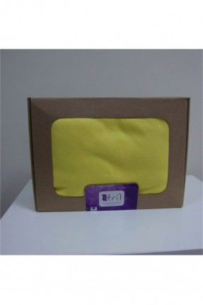 طقم غطاء سرير بيبي / 3 قطع / اصفر