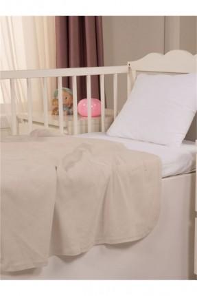 طقم غطاء سرير بيبي / 3 قطع / بيج