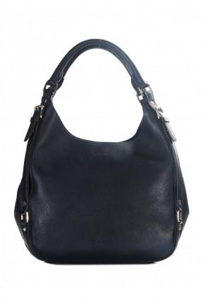 حقيبة يد نسائي جلد - ازرق داكن