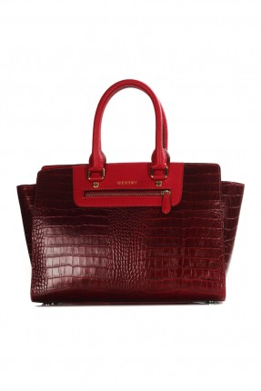 حقيبة يد نسائي جلد - احمر