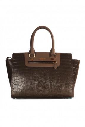 حقيبة يد نسائي جلد - بني