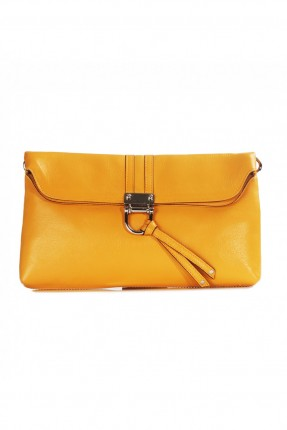 حقيبة يد نسائي جلد - اصفر