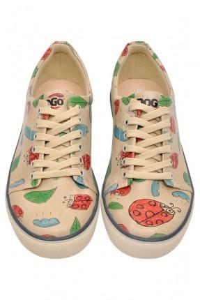 حذاء سنيكر نسائي مع طبعة