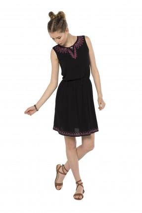 فستان سبور مطرز - اسود