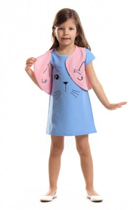 طقم اطفال بناتي فستان مع بوليرو