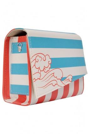 حقيبة يد مقلمة