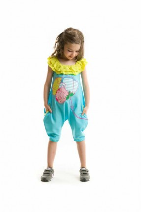 افرول اطفال بناتي - ازرق