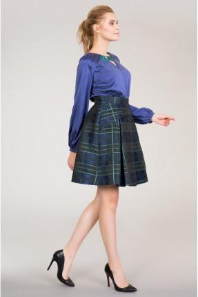 تنورة قصيرة كارو - ازرق داكن