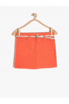 تنورة اطفال بناتي - برتقالي