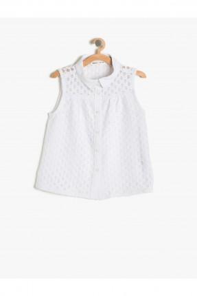 قميص اطفال بناتي - ابيض