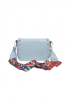حقيبة نسائية مع ستراس - ازرق