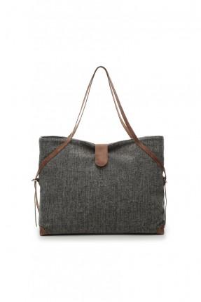 حقيبة يد نسائية - رمادي داكن