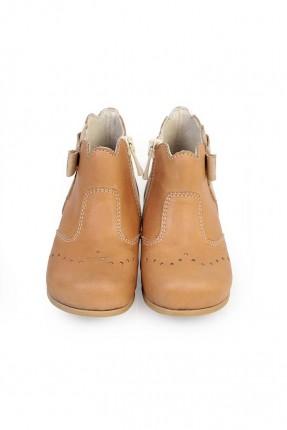 حذاء بيبي بناتي - بني