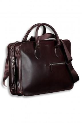 حقيبة اوراق مع سحاب - بني