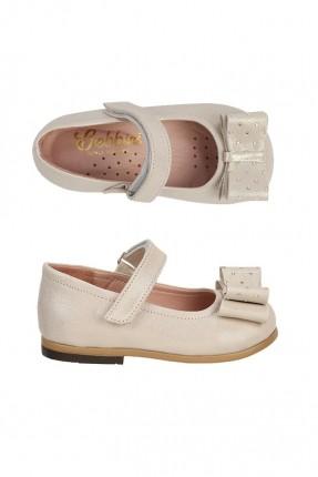 حذاء اطفال بناتي جلد - بيج