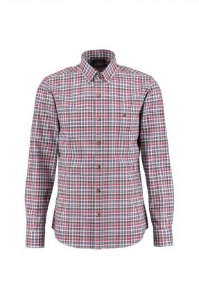 قميص رجالي كارو - خمري